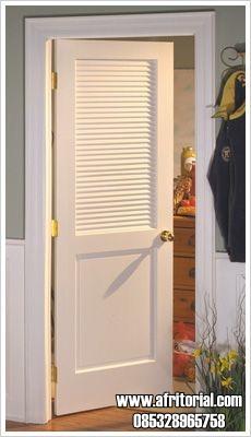 Jual Pintu Jalusi Kamar Minimalis Warna Putih