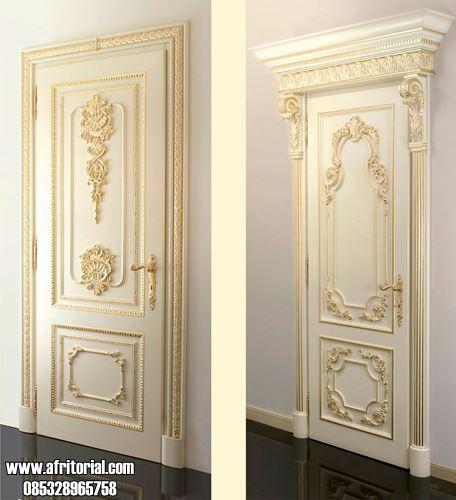 Jual Pintu Kamar Mewah Motif Ukiran Klasik Jepara