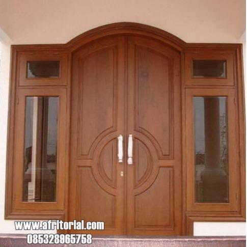Kusen Daun Pintu Jendela Gendong Kayu Jati