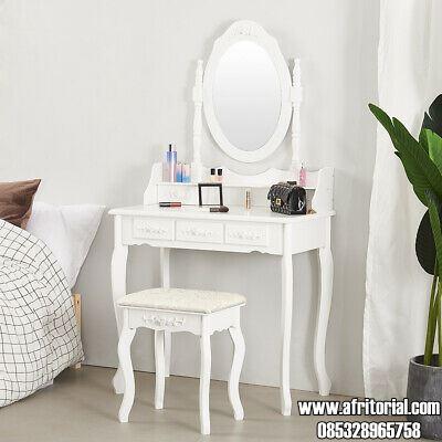 Meja Rias Anak Perempuan Murah Warna Putih 3 Laci