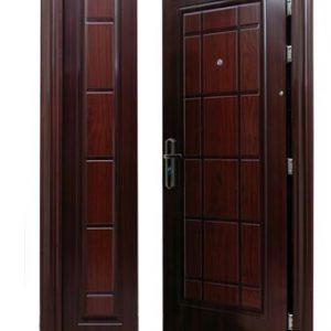 Model Pintu Asimetris atau Daun Besar Kecil Kayu Jati