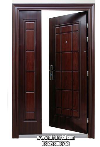 Model Pintu Asimetris Daun Besar Kecil Desain Minimalis Modern