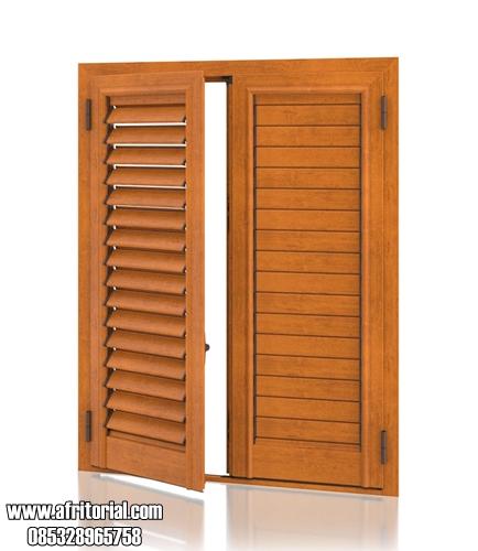 Model Pintu Krepyak Jati Buka Tutup