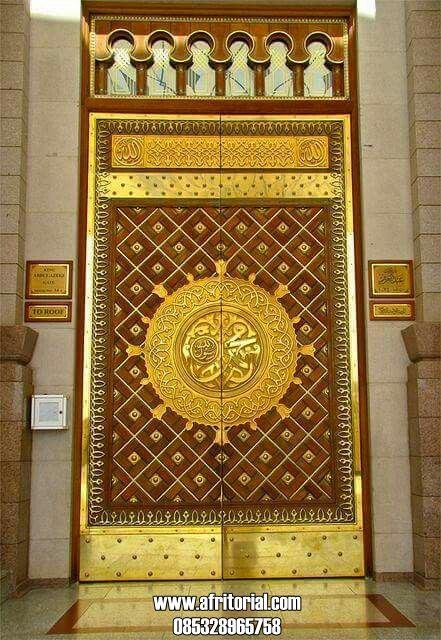 Model Pintu Nabawi Logam Kuningan Asli