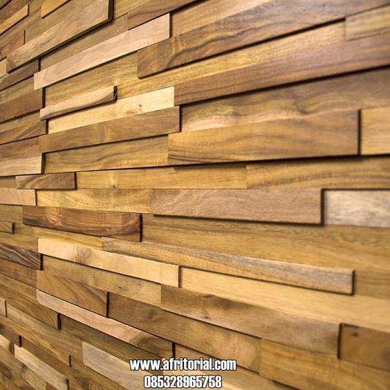 Panel Dinding Kayu Jati Desain Terbaru Untuk Dekorasi Rumah