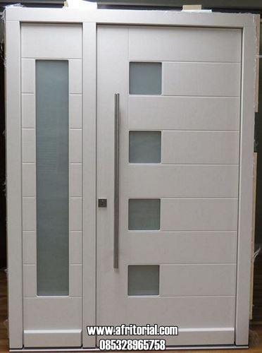 Pintu Asimetris Daun Besar Kecil Desain Minimalis Modern