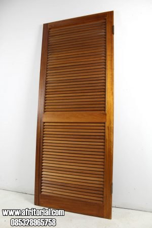 Pintu Kamar Krepyak Kayu Jati Jepara