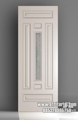 Pintu Kamar Minimalis Model Tali Air Dan Kaca Di Tengah