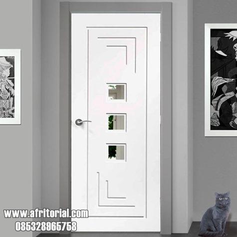 Pintu Kamar Minimalis Putih Cat Duco 1 Daun