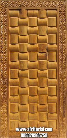 Pintu Kamar atau Single Desain Anyaman Tikar