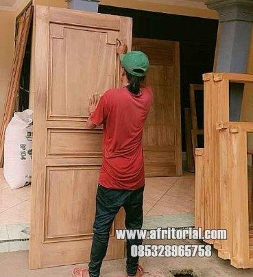 Pintu Kayu Jati Murah Untuk Kos Asrama Dan Rumah Susun Sipil