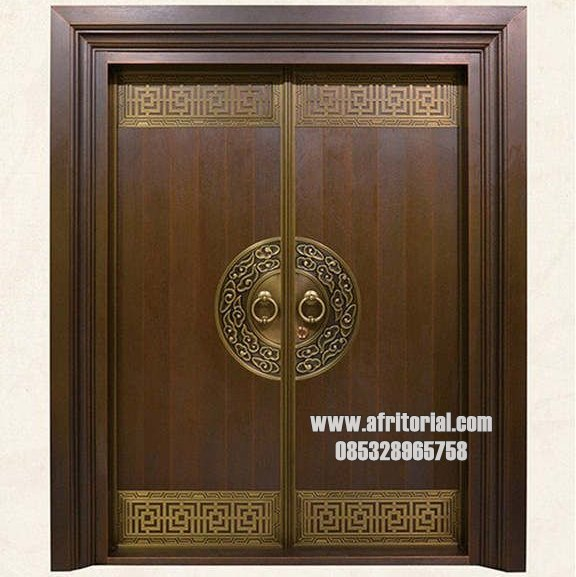 Pintu Masjid Minimalis Kayu Jati Jepara Variasi Kuningan
