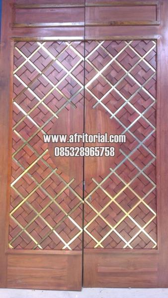 Pintu Masjid Nabawi Tanpa Ukiran Kayu Jati TPK