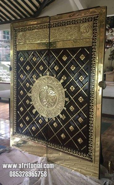Pintu Masjid Nabawi Replika Kayu Jati TPK Murah