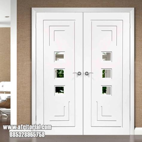 Pintu Minimalis Putih Cat Duco 2 Daun