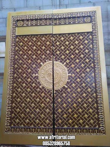 Replika Pintu Nabawi Kayu Jati Ukiran Jepara