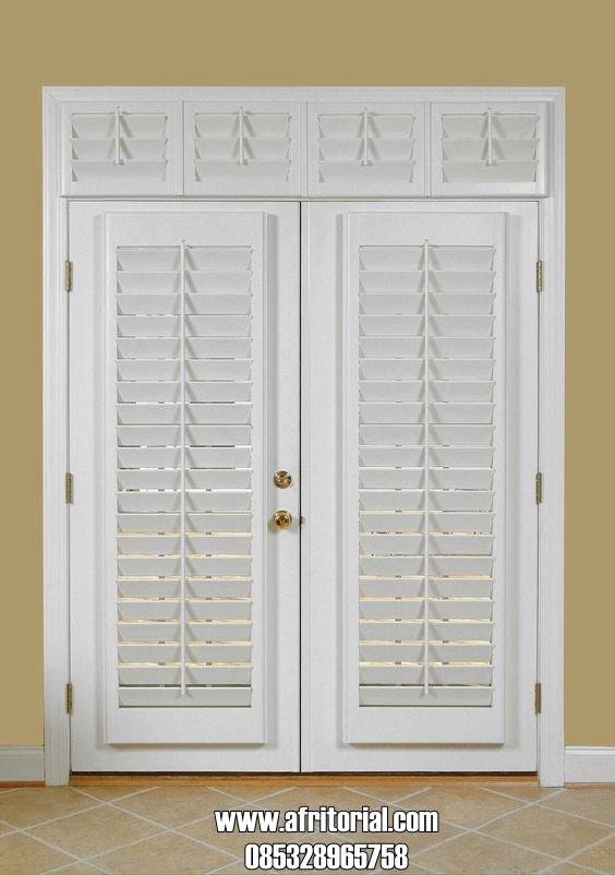 Set Kusen Pintu Rumah Minimalis Model Jalusi Atau Krepyak