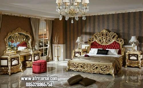 Set Tempat Tidur Ukir Gold