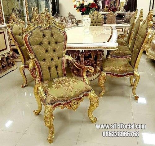 Set kursi makan mewah klasik eropa