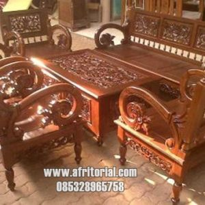 sofa kursi tamu ukir arimbi kayu jati