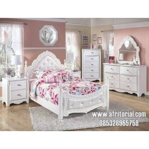 Tempat Tidur Anak Mewah Cat Putih