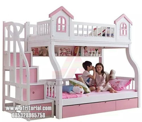 Tempat Tidur Anak Tingkat Karakter Rumah
