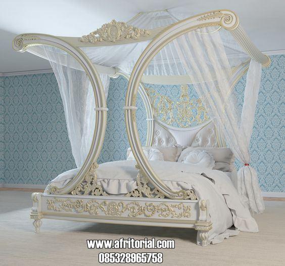 Tempat Tidur Kanopi Ukir Klasik Mewah