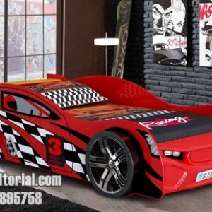 Tempat Tidur Karakter Mobil Balap