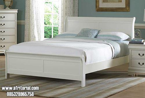 Tempat Tidur Minimalis Modern Cat Duco Putih