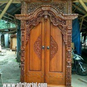 pintu gebyok ukir nalum sari jepara harga murah