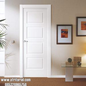 pintu kamar minimalis kayu jati duco putih