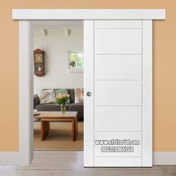 pintu kamar singgel sliding minimalis kayu