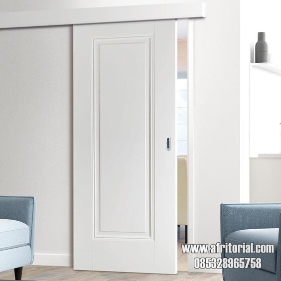pintu kamar sliding singgel kayu minimalis