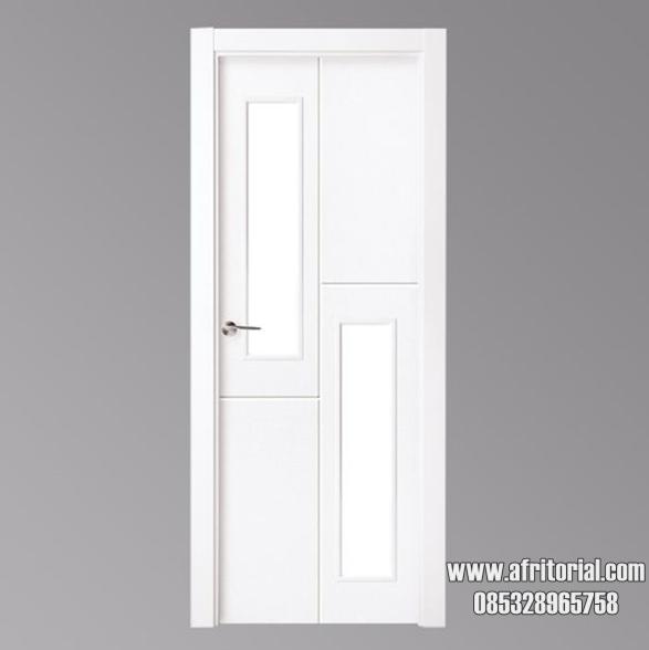 pintu kamar tidur kayu minimalis pangeran cat duco putih