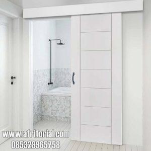 pintu kamar utama singgel premium minimalis kayu jepara