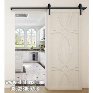 pintu utama geser sliding satu daun jepara