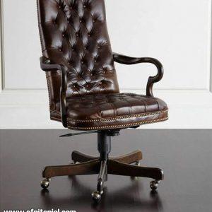Kursi Kerja Kayu Jati Untuk Ruangan Kantor Perusahaan