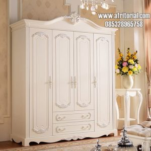 Wardrop Lemari Pakaian Model klasik warna putih