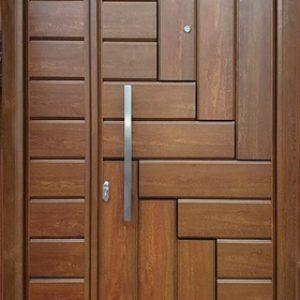 pintu kamar hotel minimalis asimetris terbaru kayu jati