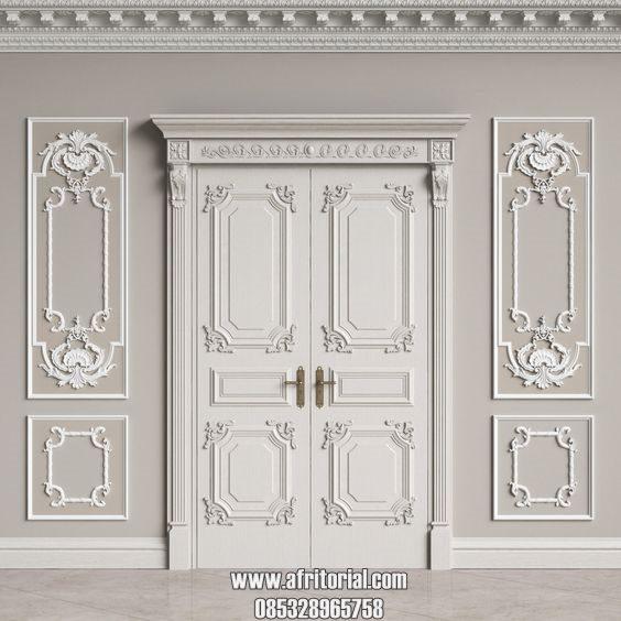 pintu utama klasik mewah eropa ukir jepara