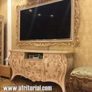 Bufet Tv Ukiran Jepara Model Pigura Dinding