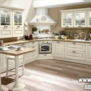Kitchen Set Dapur Bersih Model Minimalis Warna Putih