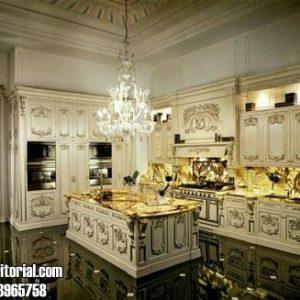 Kitchen Set Mewah Klasik Ukir Jepara Terbaru Cat Duco
