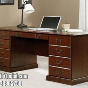 Meja Kantor Model Laci Banyak Penyimpanan Dokumen