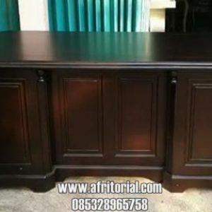 Meja Kantor Untuk Ruangan Kerja Pribadi Finishing Salak Brown Doff
