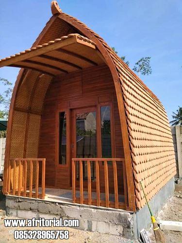 Rumah Lumbung Modern Kayu Jati Untuk Villa