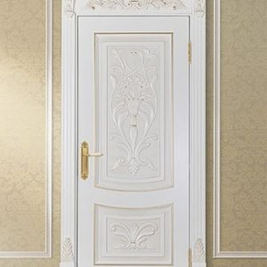 Set Pintu Kamar Mewah Ukiran Jepara Warna Putih