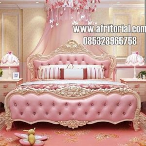 Tempat Tidur Putri Pink Alami