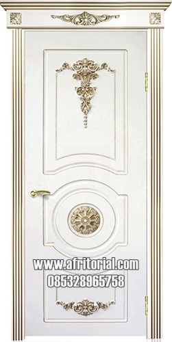 Pintu Klasik Cat Duco Putih Kayu Jepara
