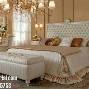 Set Tempat Tidur Ukir Modern Sandaran Busa Minimalis